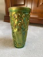 Zsolnay eozin szüretelő pohár Török János által tervezett