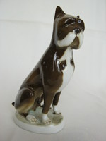Zsolnay porcelán kutya boxer