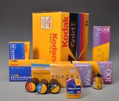 Retro Kodak filmes dobozok, dekorációnak.
