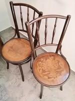 Debreceni Thonet,Thonett,Tonet szék párban,ritka szép ,stabil állapotban !