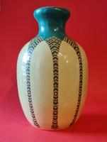 Fischer Emil Jugendstil porcelánfajansz díszváza