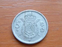 SPANYOL 5 PESETA 1975
