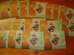Kb 19 darab 1972 München XX. nyári olimpiai játékok blokk magyar bélyeg KIÁRUSÍTÁS china