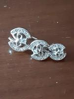 Masnis ezüst szingli fülbevaló