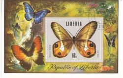 Liberia légipodta bélyeg  blokk 1974