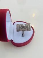 Gyönyörű antik ezüst gyűrű !