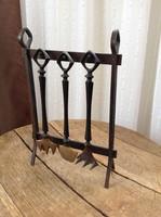 Régi iparművészeti Pap Zoltán bronz asztaldísz