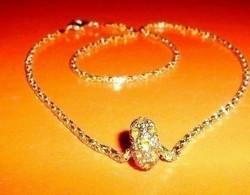 Arany fényű Swarovski Gyöngy Nyaklánc