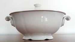 Régi Drasche porcelán leveses tál fehér kínáló