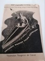 Kajak-Kenu Munkás Európa Bajnokság 1947 szept 6-8 műsorfüzet