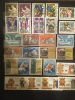 27 darab posta tiszta Vatikáni bélyeg , bélyeg sorok .