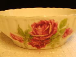 Antik Zsolnay rózsás pogácsás,köretes tál sérült