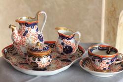 Fischer & Mieg (F&M) Egyszemélyes porcelán kávéskészlet