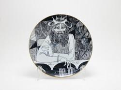 Limitált kiadású Szász Endre Hollóháza porcelán falitányér (5154)