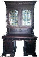 A209 Antik,reneszánsz stílusú írószekrény,íróasztal,szekreter