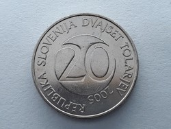 Szlovénia 20 Tolár 2005 - Szlovén 20 tolarjev, tolar 2005 külföldi pénz, érme