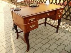 Eredeti antik, kecses, nagyon stabil női kis méretű íróasztal az 1920-as évekből SZÁLLÍTÁSSAL!