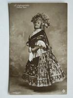 FEDÁK SÁRI (A CIGÁNYPRÍMÁS), FOTÓ 1913, POST CARD, KÉPESLAP (9X14 CM) EREDETI