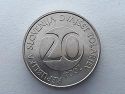 Szlovénia 20 Tolár 2004 - Szlovén 20 tolarjev, tolar 2004 külföldi pénz, érme