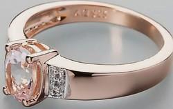 Morganit - fehér topáz drágaköves   sterling ezüst /925/ gyűrű 60 méret !--új