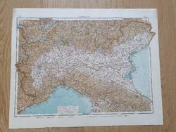 9 darab 1914-es német nyelvű atlaszból származó térképek (58x46 cm) vegyes állapotban egyben