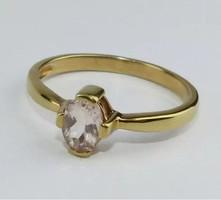 Morganit drágaköves   sterling ezüst /925/ gyűrű 57 méret !--új