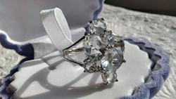 Akvamarin 925 ezüst gyűrű 59
