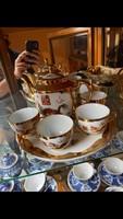 Kínai porcelán teás szett (sérült!)