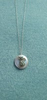 Különleges óriás gyöngy cicás markazit drágaköves   sterling ezüst /925/ medál/ bross- új