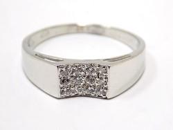 Fehér arany  köves gyűrű (ZAL-Au96473)