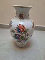 Nagyméretű Herendi Viktória mintás porcelán váza 32 cm!