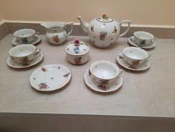 Antik Herendi Viktória mintás teáskészlet, teás készlet