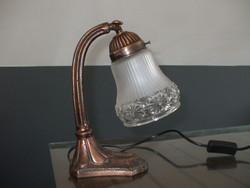 Réz szecessziós asztali lámpa