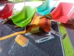 Retro játék nyaralós szett szék napernyő fák