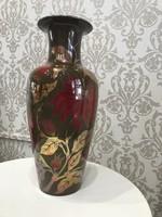 Óriási Zsolnay többtüzű Eozin padló váza
