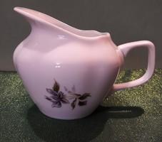 Virágos porcelán kiöntő és cukortartó