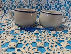 Régi Zsolnay kék csíkos koma csészék bögrék