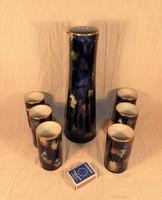Wallendorf porcelán karafina készlet. Kobalt.