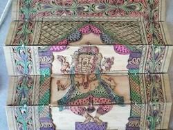 Erotikus jelenetes indiai pálmalevél könyv