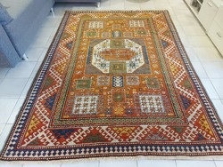 Antik kaukázusi minta 165x230 kézi csomózású gyapjú perzsa szőnyeg  MM_701