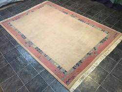 Domború mintás INDO NEPÁLI kézi csomózású gyapjú szőnyeg, 204 x 315 cm