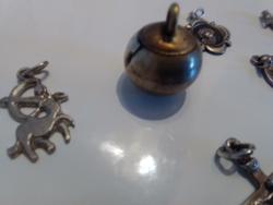 6 db ezüst ékszer medál csomag retro régi