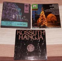3 régebbi komoly kislemez hanglemez vinyl SP Kossuth etc.
