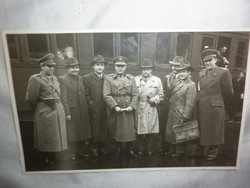 Régi fotó fénykép csoportkép magyar államrendőrség bűnügyi osztálya