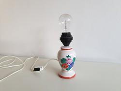 Régi retro Iparművész virágos kerámia asztali lámpa