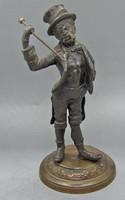 B209 K&CO tömör bronz szobor - csodaszép gyűjtői ritkaság!