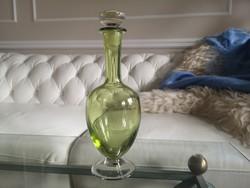 Különleges sárgás zöld palack