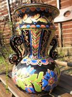 Lázi János extra szép  HMV hódmezővásárhelyi népi szecessziós váza