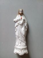 Jézus szíve porcelán szobor