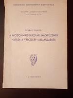 PUSKÁS VILMOS : A MOSONMAGYARÓVÁRI NAGYÜZEMEK HATÁSA A VÁROSKÉP KIALAKULÁSÁRA - 1972